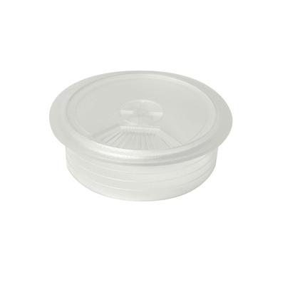 Copri passa-cavo in plastica trasparente Ø 60 mm