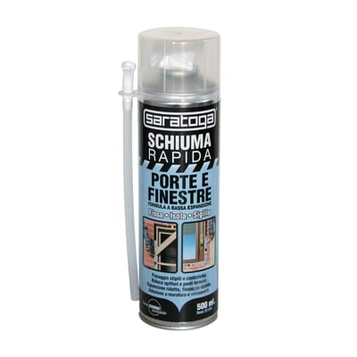 Schiuma poliuretanica rapida porte e finestre blu per porta 0,5 ml