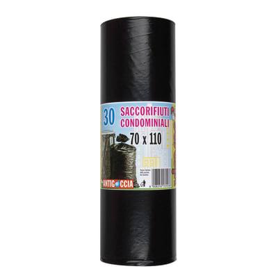 Sacchi spazzatura Condominiale L 70 x H 110 cm 110 L nero 30 pezzi