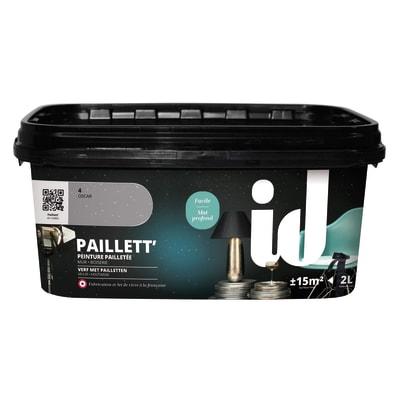 Pittura decorativa ID 2 l grigio oscar effetto paillette
