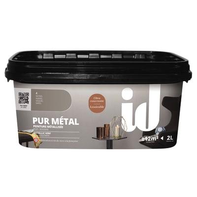 Pittura decorativa ID Pur Metal 2 l grigio nichel effetto metallo