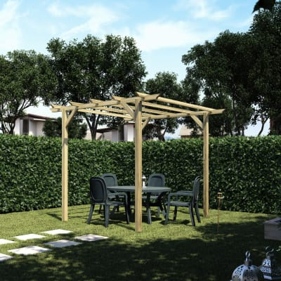 Pergola Apple in legno marrone L 300 x P 300 x, H 248 cm
