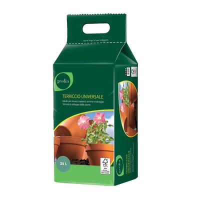 Terriccio universale GEOLIA ideale per rinvasi, trapianti, semina e taleaggio 25 L