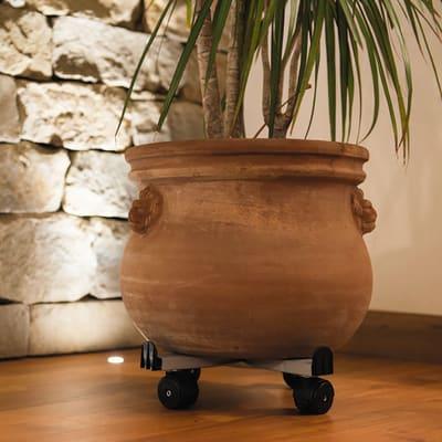Vasi Rettangolari Plastica Leroy Merlin.Supporto Con Rotelle Per Vaso In Plastica O 33 5 Cm Prezzi E