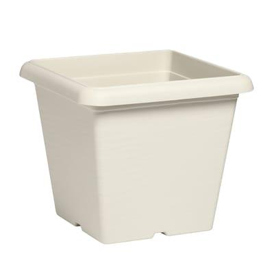 Vaso Terrae in plastica colore bianco H 25.5 cm, L 30 x P 30 cm