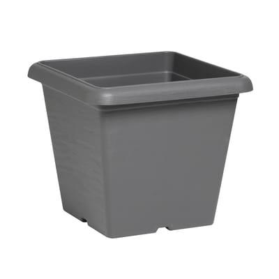 Vaso Terrae in plastica colore grigio H 25.5 cm, L 30 x P 30 cm