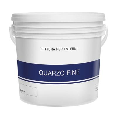 Pittura acrilica per facciate Quarzo Fine bianco 4 L