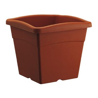 Vaso Festo in plastica colore cotto H 34.5 cm, L 40 x P 40 cm