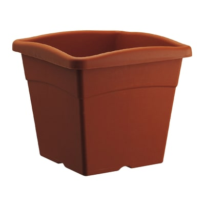 Vaso Festo in plastica colore cotto H 21.8 cm, L 25 x P 25 cm