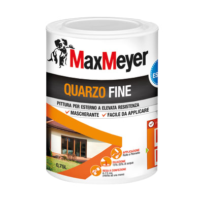 Pittura al quarzo MAX MEYER fine bianco 0.75 L