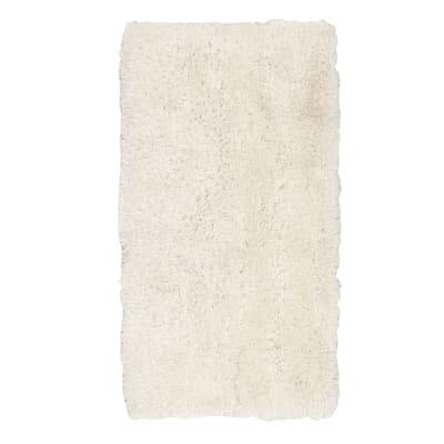 Tappeto Shaggy enzo lurex bianco 80x150 cm