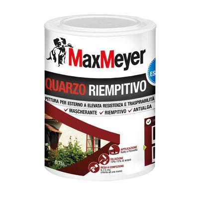 Pittura al quarzo max meyer fine bianco l prezzi e for Pittura lavabile prezzi leroy merlin