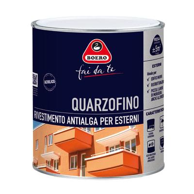 Pittura al quarzo BOERO FAI DA TE Quarzofino antialga bianco 0.75 L