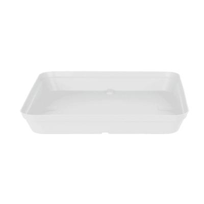 Sottovaso in plastica colore bianco P 33 x L 33 cm