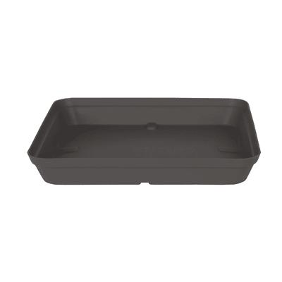 Sottovaso in polipropilene colore grigio antracite P 33 x L 33 cm