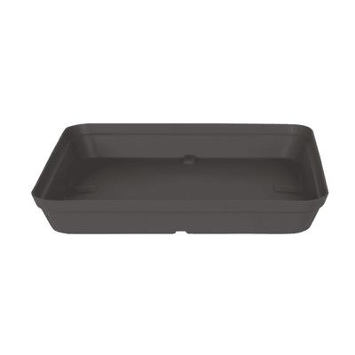 Sottovaso in polipropilene colore grigio antracite P 38 x L 45 cm Ø 38 cm