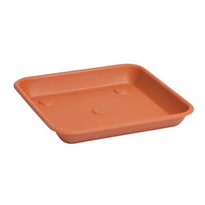 Sottovaso in plastica colore cotto P 25 x L 25 cm