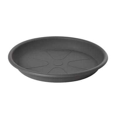 Sottovaso in plastica colore grigio antracite Ø 36 cm