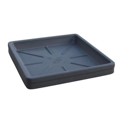 Sottovaso per vaso da fiori in plastica colore nero P 42 x L 42 cm