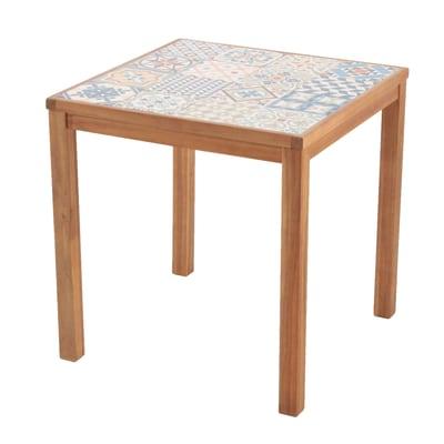 Tavolo da pranzo per giardino quadrato Soho con piano in ceramica L 70 x P 70 cm