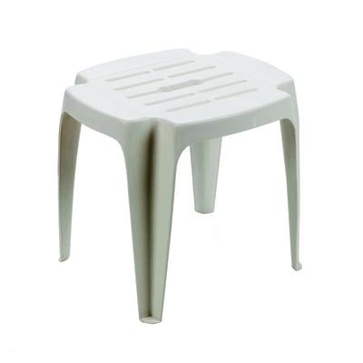 Tavolino da giardino rettangolare Calypso con piano in polipropilene L 37 x P 42 cm