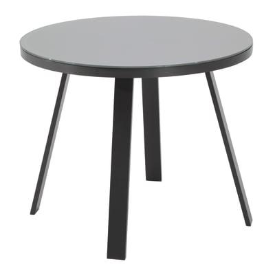 Tavoli Da Pranzo Rotondi In Vetro.Tavolo Da Pranzo Per Giardino Rotondo Lisboa Naterial Con Piano In