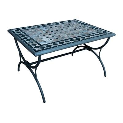 Tavolino da giardino rettangolare Maroc con piano in mosaico L 40 x P 70 cm