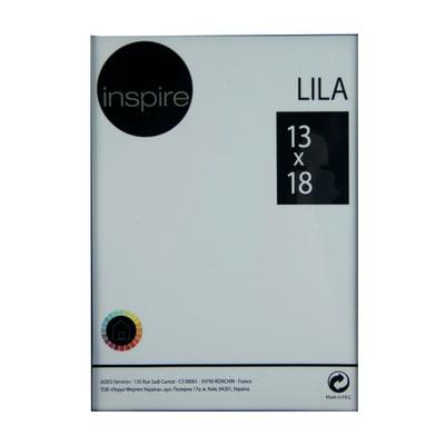 Cornice a giorno INSPIRE Lila nero per foto da 13x18 cm