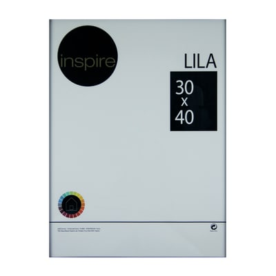 Cornice INSPIRE Lila nero per foto da 30x40 cm