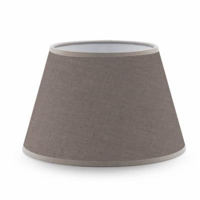 Paralume per lampada da comodino personalizzabile  Ø 20 cm tortora in teletta Inspire