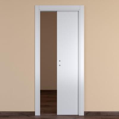 Porta scorrevole a scomparsa One White bianco L 70 x H 210 cm reversibile