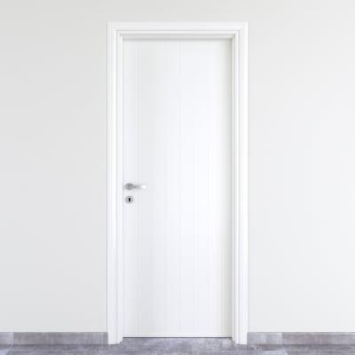 Porta a battente PVC White bianco L 70 x H 210 cm destra