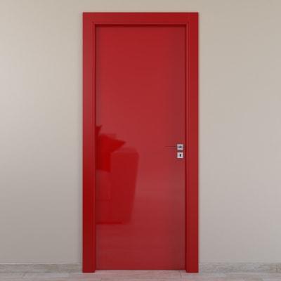 Porta a battente Massaua Red rosso L 70 x H 210 cm sinistra
