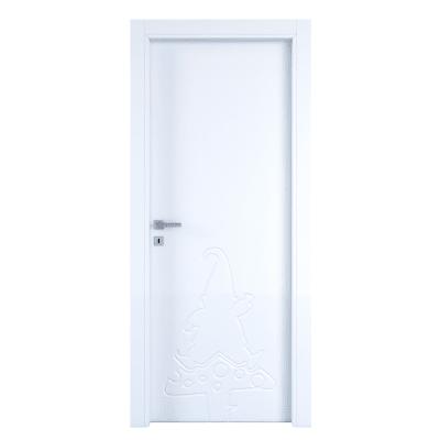 Porta a battente Dwarf White bianco L 80 x H 210 cm destra