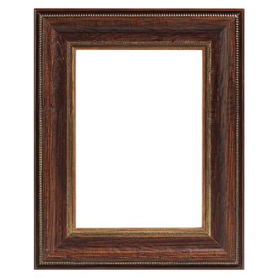 Cornice INSPIRE Fabriano noce<multisep/>oro per foto da 29.7x42 cm