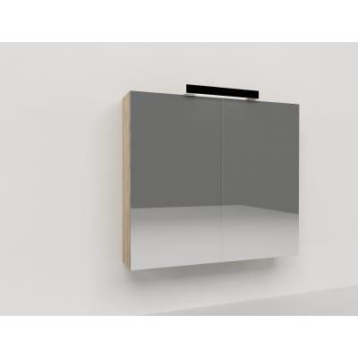 Specchio contenitore con luce Key L 70 x P 15 x H 62 cm grigio laminato