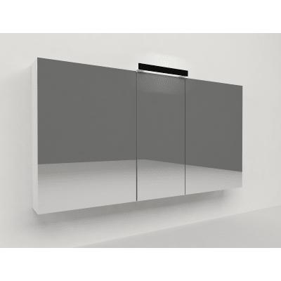Specchio contenitore con luce Key L 120 x P 15 x H 62 cm bianco laminato
