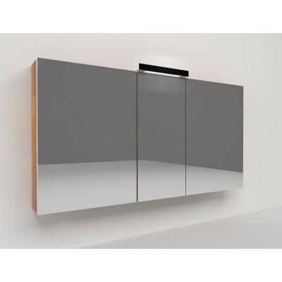 Specchio contenitore con luce Key L 120 x P 15 x H 62 cm marrone laminato