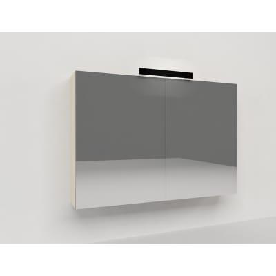 Specchio contenitore con luce Key L 90 x P 15 x H 62 cm avorio laminato