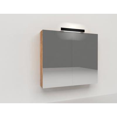 Specchio contenitore con luce Key L 70 x P 15 x H 62 cm marrone laminato