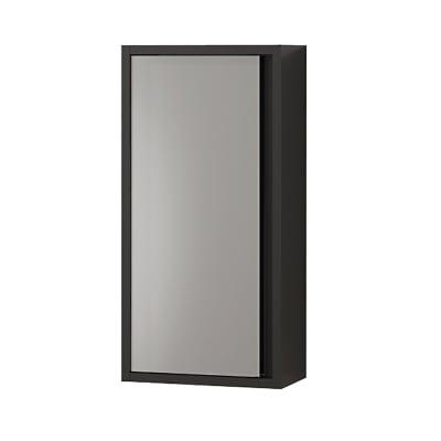 Pensile Loto 1 L 35 x P 18 x H 70 cm lucido grigio con frontale in vetro laccato