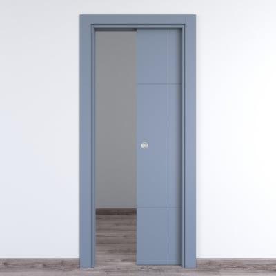 Porta scorrevole a scomparsa Urban bianco L 80 x H 210 cm reversibile
