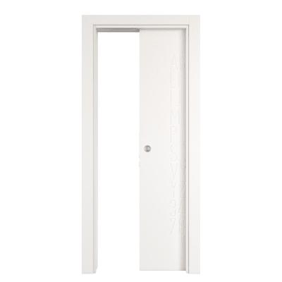 Porta scorrevole a scomparsa Keyboard White bianco L 80 x H 210 cm reversibile