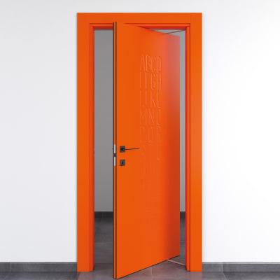 Porta rototraslante Keyboard Orange arancio L 80 x H 210 cm destra
