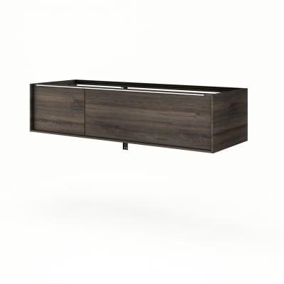 Base Neo Frame 1 cassetto 1 anta L 135 x P 48 x H 33 cm rovere scuro legno ed effetto legno SENSEA
