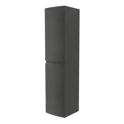 Colonna Vague 2 ante L 40 x P 38 x H 170 cm grigio antracite lucido