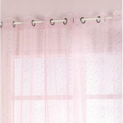 Tenda Stelline rosa occhielli 140 x 280 cm