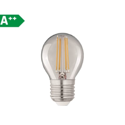 Lampadina Filamento LED E27 sferico bianco naturale 4W = 470LM (equiv 40W) 360° LEXMAN