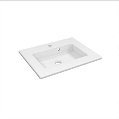 Lavabo consolle rettangolo Neo Moon L 61 x P 35 x H 11.2 cm in ceramica bianco