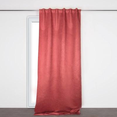 Tenda Salford rosso fettuccia con passanti nascosti 140x280 cm